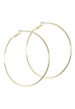 Womens Gold Oversized Hoop Earrings
