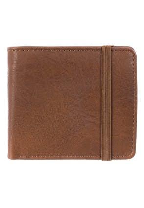 Mens Brown Band Wallet