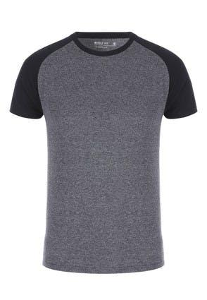 Mens Navy and Grey T-Shirt