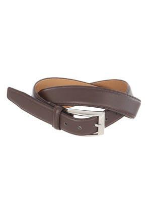 Mens Mid Brown Formal Belt
