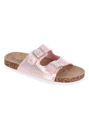Older Girls Pink Animal Print Buckle Sandals