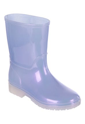 Younger Girls Purple Pearlescent Wellies