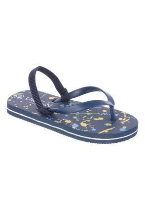 Younger Boys Blue Paint Splat Flip Flops