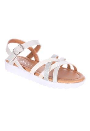 Younger Girls Metallic Structured Sandal