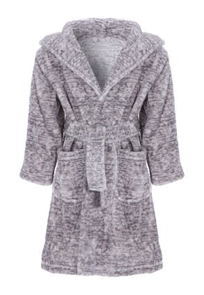 Younger Boys Grey Marl Dressing Gown
