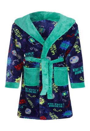 Younger Boys Gaming Print Dressing Gown