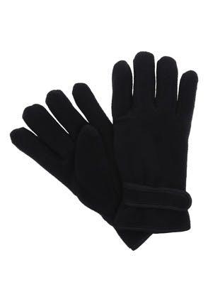 Womens Black Thinsulate Fleece Gloves