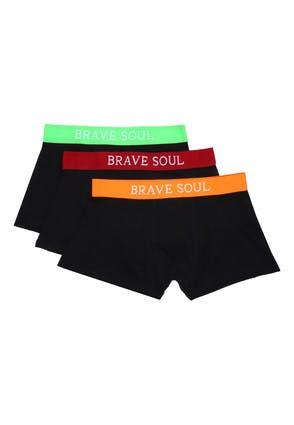 Mens 3pk Black Brave Soul Boxers