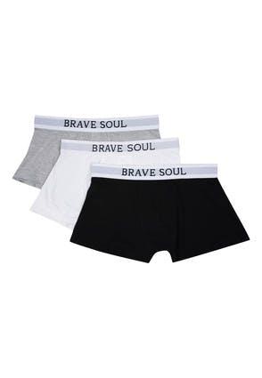 Mens 3pk Brave Soul Boxers