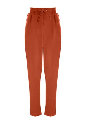 Womens Rust Jogger Waist Trousers