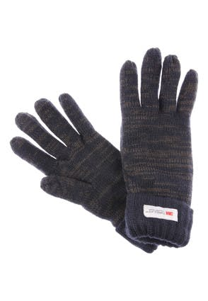 Mens Navy Marl Thinsulate Gloves
