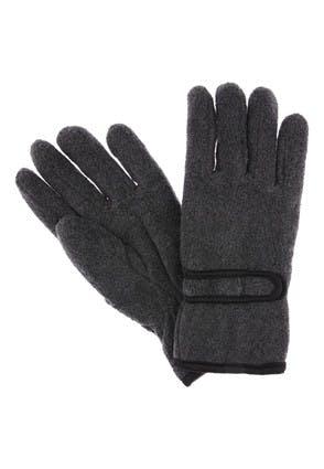 Mens Grey Thinsulate Velcro Wrist Gloves