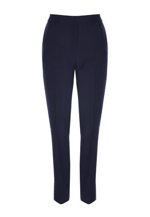 Womens Navy Tapered Leg Trousers