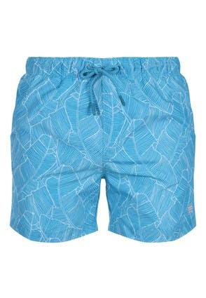 Mens Blue Leaf Swim Shorts