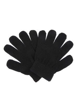 Kids Plain Black Gloves
