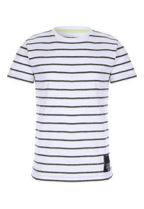 Older Boys White Striped T-Shirt