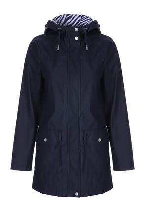 Womens Navy Rubber Coat
