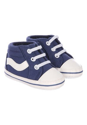 Baby Boys Navy Canvas Trainers
