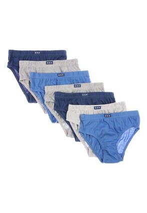 Boys 7pk Blue Briefs Multipack