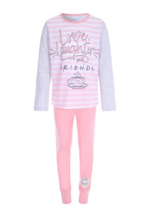 Older Girls Pink Friends Pyjama Set