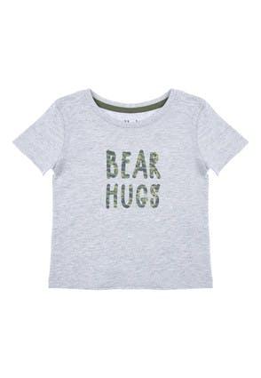 Baby Boys Bear Hugs Slogan T-Shirt