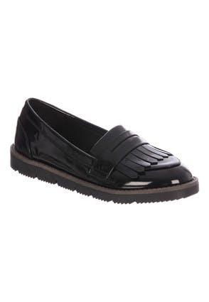 Older Girls Black Patent Loafers