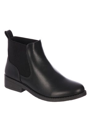 Womens Black Chelsea Ankle Boots