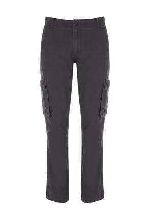 Mens Grey Cargo Trousers