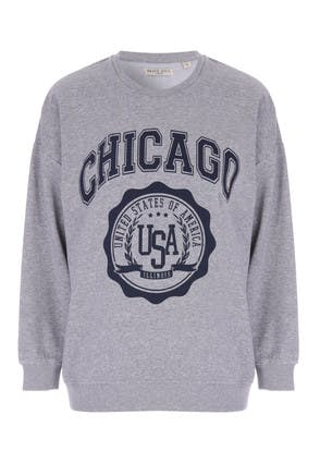 Womens Grey Chicago Sweatshirt