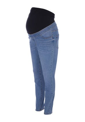 Maternity Light Blue Over The Bump Skinny Jeans