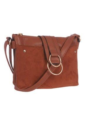 Womens Tan Double Ring Chloe Bag