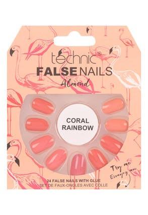 Technic Coral Rainbow False Nails