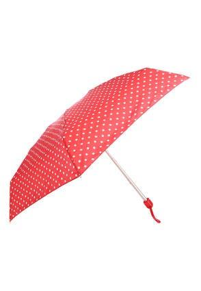 Womens Red Spot Mini Umbrella