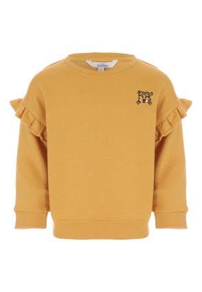 Younger Girls Mustard Leopard Sweat Top
