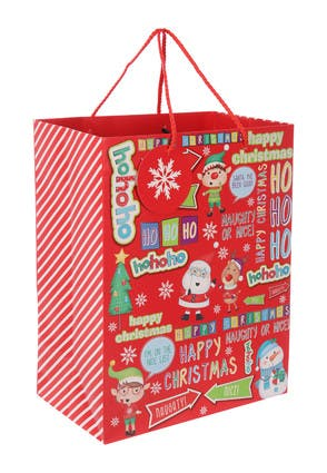 Large Red Christmas Gift Bag