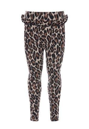 Younger Girls Leopard Print Frill Leggings
