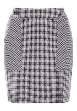 Womens Brown Check Pocket Skirt