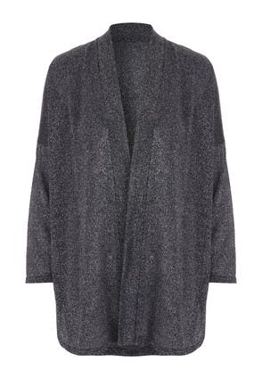 Womens Charcoal Shimmer Cardigan