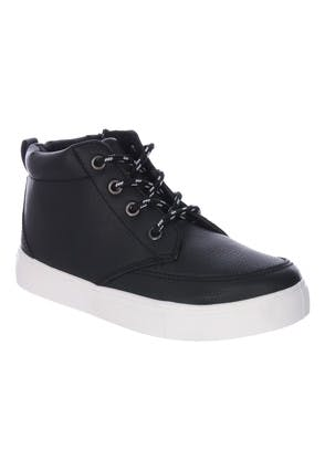 Younger Boys Black High Top Trainers