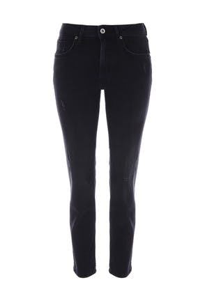 Womens Black Holly Premium Straight Leg Jeans