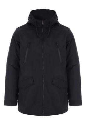 Mens Black Short Parka Jacket