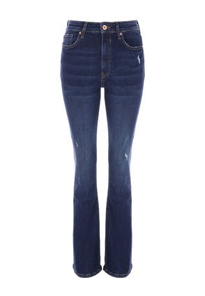 Womens Indigo Daisy Premium Bootcut Jeans