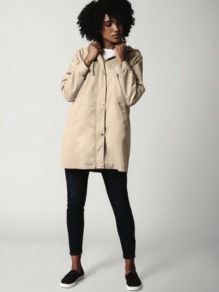 Womens Camel Rain Jacket