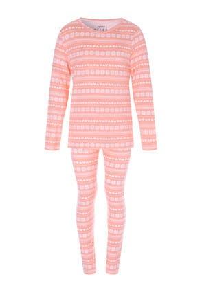 Older Girls Pink Fairisle Pyjama Set