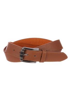 Mens Brown Pebbled Casual Belt