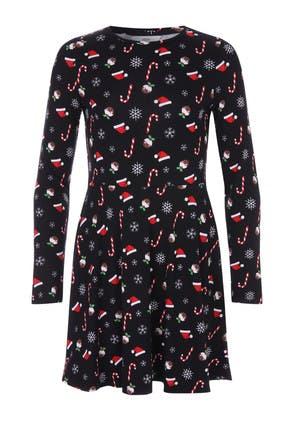 Older Girls Black Christmas Dress