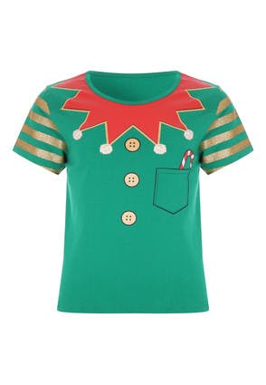 Younger Kids Green Elf T-Shirt