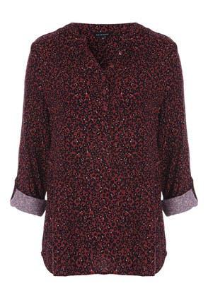 Womens Berry Animal Print Shirt
