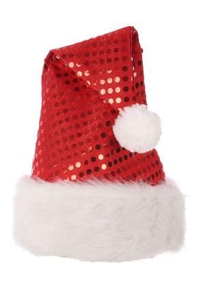 Red Sequin Santa Hat