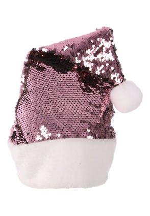 Pink Sequin Santa Hat